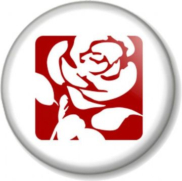 Labour Rose Pinback Button Badge General Election Political Party Icon Logo